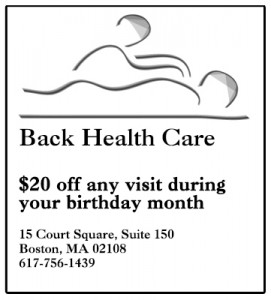Back Health Care Birthday Coupon